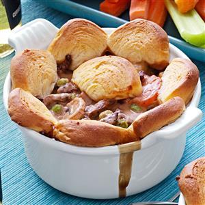 Beef and Mushroom Potpies Recipe