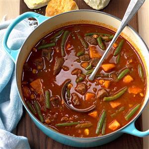 Beefy Sweet Potato Soup Recipe