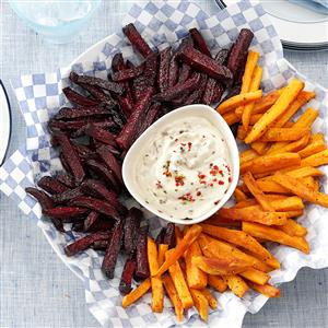 Beet and Sweet Potato Fries Recipe