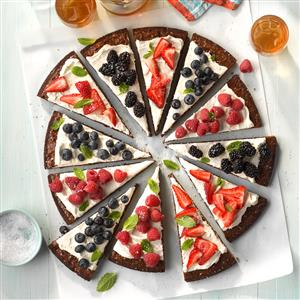 Berry-Patch Brownie Pizza Recipe
