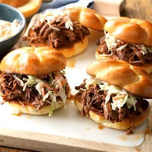 Bistro Beef Barbecue Sandwiches Recipe