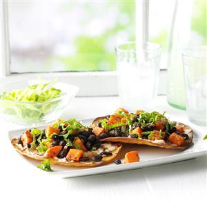Black Bean & Sweet Potato Tostadas Recipe