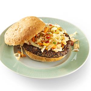Black Bean Burgers with Chipotle Slaw Recipe