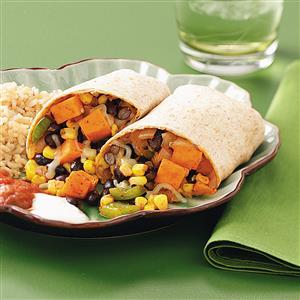 Black Bean Veggie Burritos Recipe