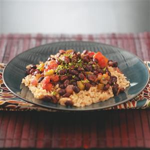 Black Beans with Brown Rice Recipe