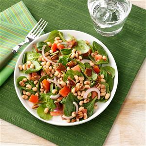 Black-Eyed Pea Spinach Salad Recipe