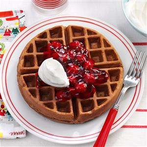 Black Forest Waffles Recipe