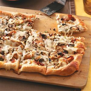 Black-and-Blue Pizzas Recipe