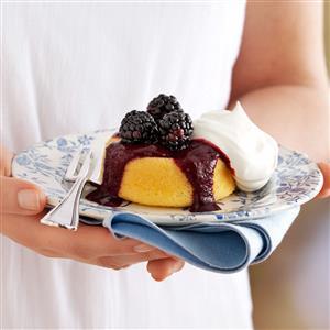 Blackberry-Topped Sponge Cakes Recipe