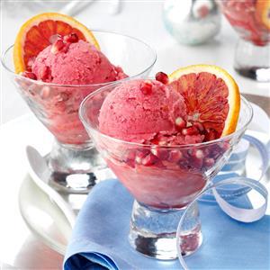 Blood Orange-Pomegranate Sorbet Recipe