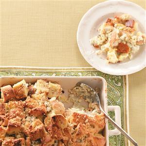Blue Cheese Bread Pudding Recipe