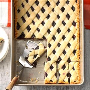 Blueberry Lattice Bars Recipe
