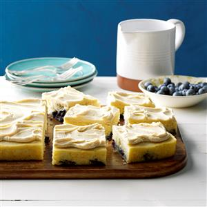 Blueberry Pan-Cake with Maple Frosting Recipe