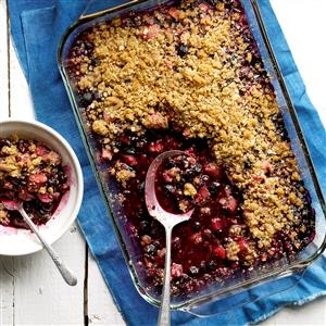 Blueberry-Rhubarb Crumble Recipe