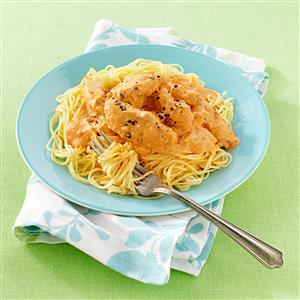 Blushing Angel Hair Pasta with Chicken Recipe