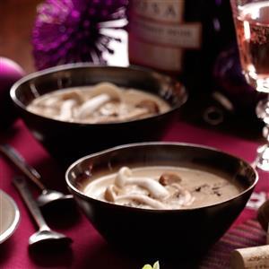 Brie and Wild Mushroom Soup Recipe