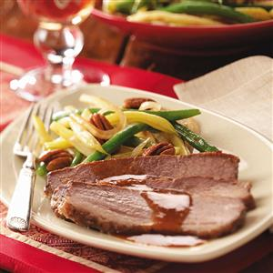 Brisket with Cranberry-Horseradish Gravy Recipe