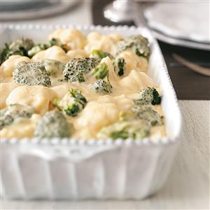 Broccoli-Cauliflower Cheese Bake Recipe