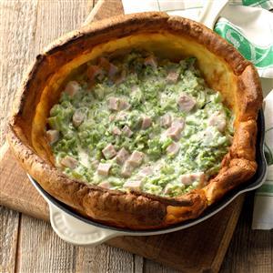Broccoli-Ham Puff Pancake Recipe