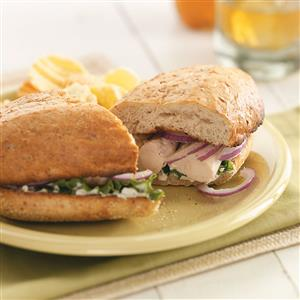 Broiled Chicken Tenderloin Sandwiches Recipe