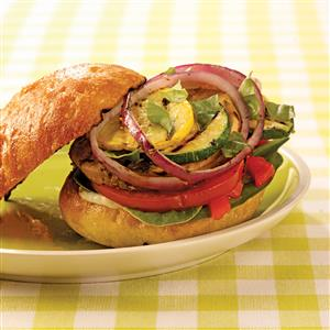 Broiled Vegetable Sandwiches Recipe