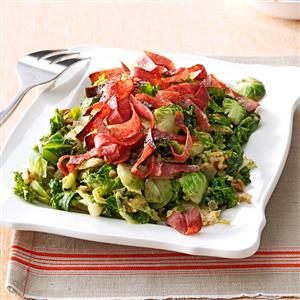 Brussels Sprouts & Kale Saute Recipe