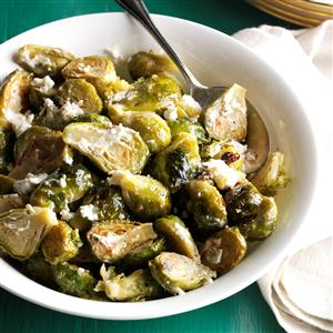 Brussels Sprouts with Garlic & Goat Cheese Recipe
