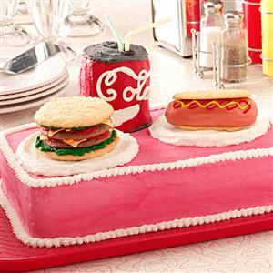 Burger 'n' Hot Dog Cake Recipe