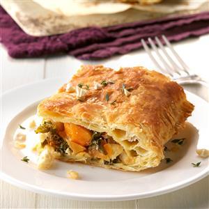 Butternut, Kale and Cashew Squares  Recipe