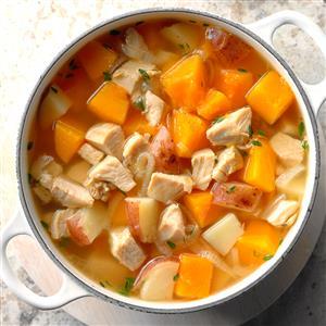 Butternut Turkey Soup Recipe