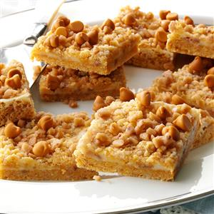 Butterscotch-Toffee Cheesecake Bars Recipe