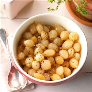Buttery Whiskey-Glazed Pearl Onions Recipe