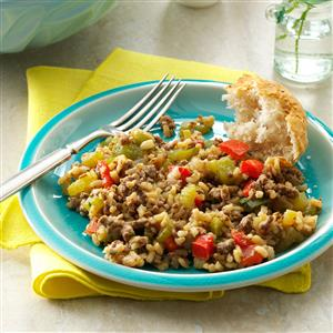 Cajun Beef & Rice Recipe