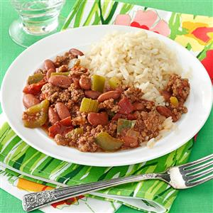 Cajun Beef and Beans Recipe