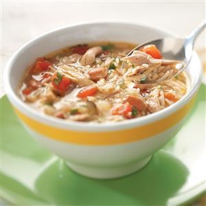 Cajun Chicken & Rice Soup