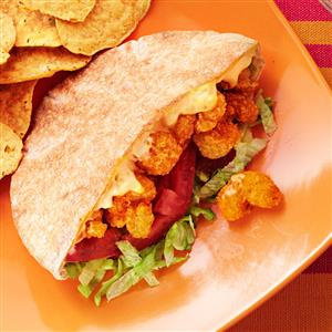 Cajun Popcorn Shrimp Sandwiches Recipe