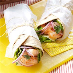 Cajun Shrimp & Cucumber Wraps Recipe