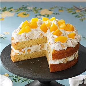 Cake with Peaches Recipe