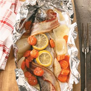 Campfire Trout Dinner Recipe