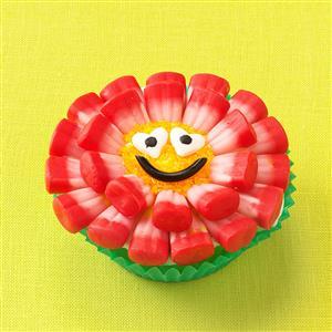 Candy Corn Flower Cupcakes Recipe