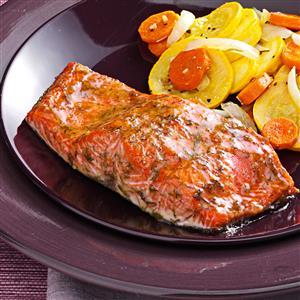 Caramel Glazed Salmon Recipe