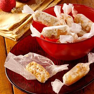 Caramel Nut Logs Recipe