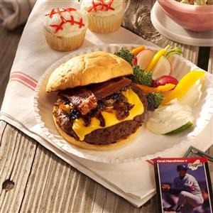 Caramelized Onion-Bacon Burgers Recipe