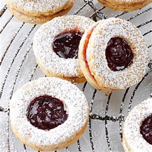 Cardamom-Blackberry Linzer Cookies Recipe