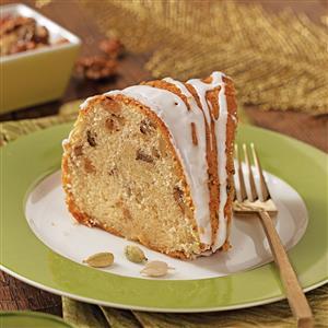 Cardamom-Walnut Pound Cake Recipe