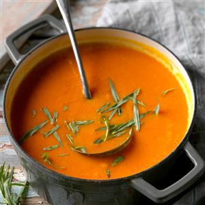 Carrot Soup with Orange & Tarragon Recipe