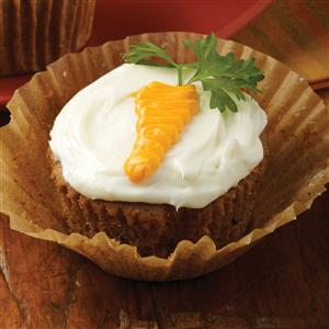 Carrot-Topped Cupcakes Recipe