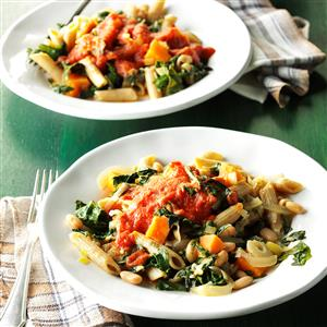 Chard & White Bean Pasta Recipe