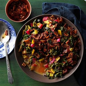 Chard with Bacon-Citrus Sauce Recipe