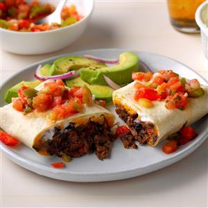 Cheddar Bean Burritos Recipe